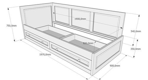 Легло с две чекмеджета
